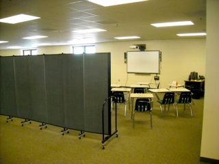 Room Dividers create classrooms in High School