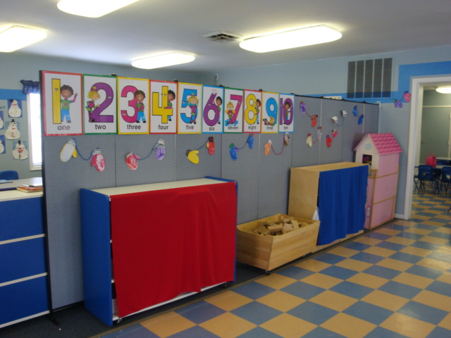 Portable Room Dividers in Learning Center
