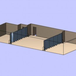 Room Divided Into Thirds 3D