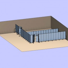 Two Corner Classrooms 3D