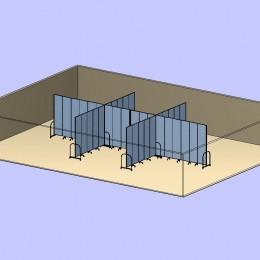 Crossed Room Dividers