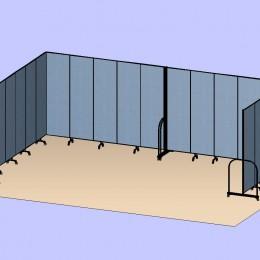 U Shaped Divider Room 3D