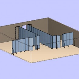 Corner Classrooms With Doors 3D