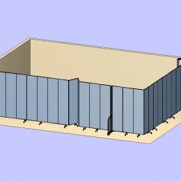Wallmount Divider Room 3D