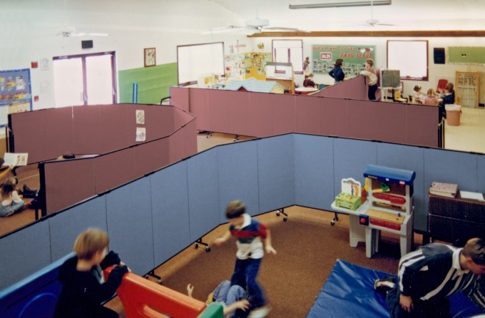 Ways to use 4 Foot Screenflex Portable Wall in a Daycare Center