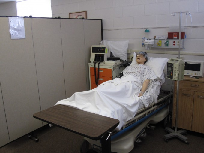 Nursing Privacy Screens Used to Separate Simulated Patients