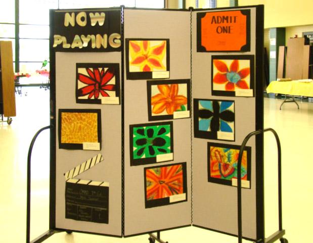 A Versatile Middle School Art Display