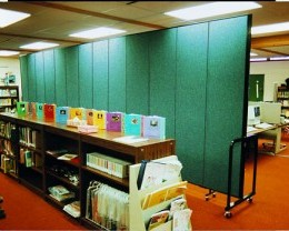 Screenflex Room Divider separates a computer lab within a library