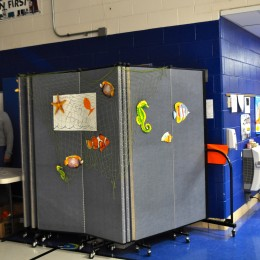 Room Dividers Provide A Safe Place For Props at the Seth Paine School Freaky Friday Festival