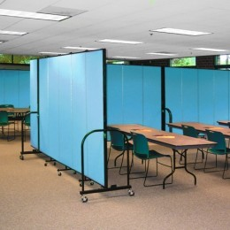 Room dividers dividing open space to create several conference rooms