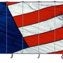 American flag mural on a 9 panel Screenflex Room Divider