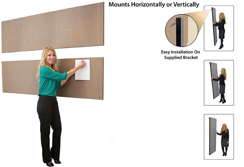 Acoustical Wall Panels Mounted Horizontally