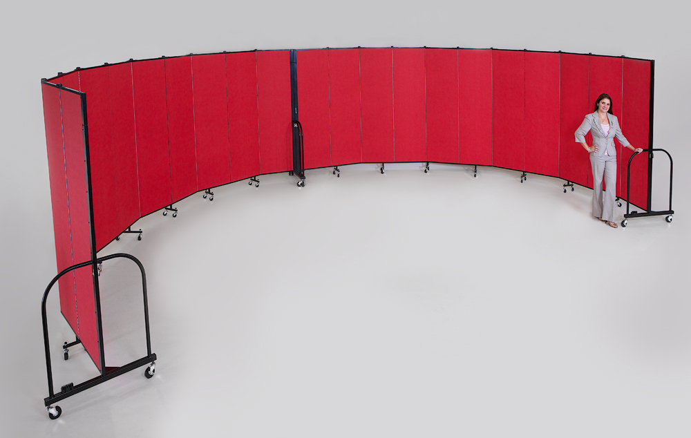 A curve in the Screenflex Room Dividers