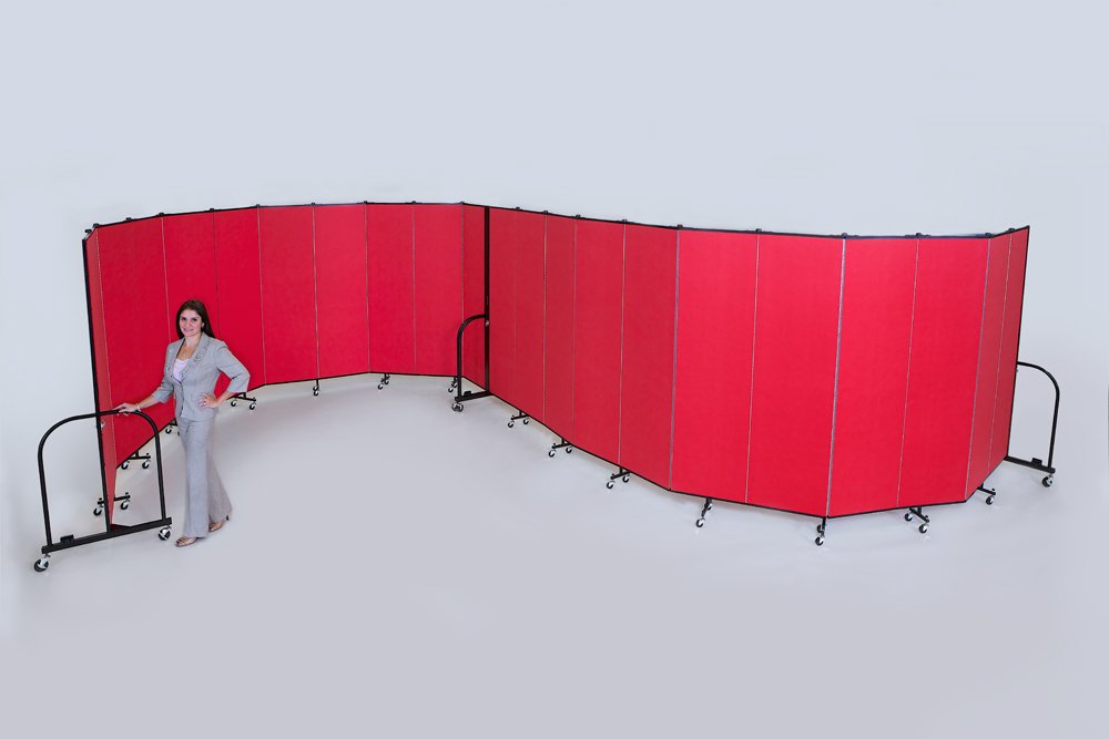 """""""S"""" Shaped Portable Room Dividers"""