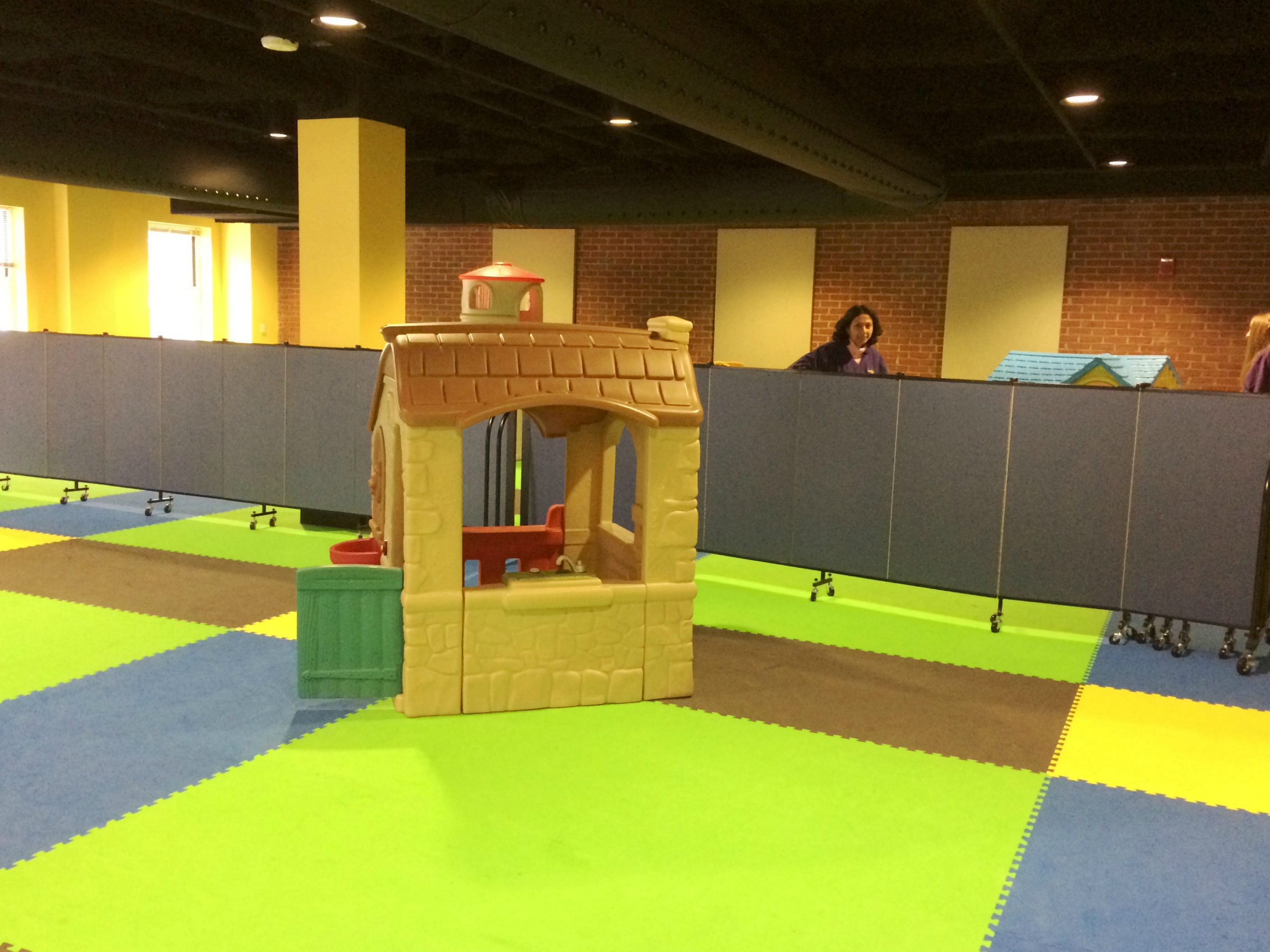 Room divider in a day care center