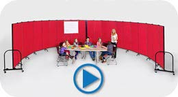 Children in Classroom Surrounded by Screenflex portable walls Video Play Button