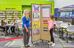 One of the best Screenflex products, the display tower displays items while occupying little space